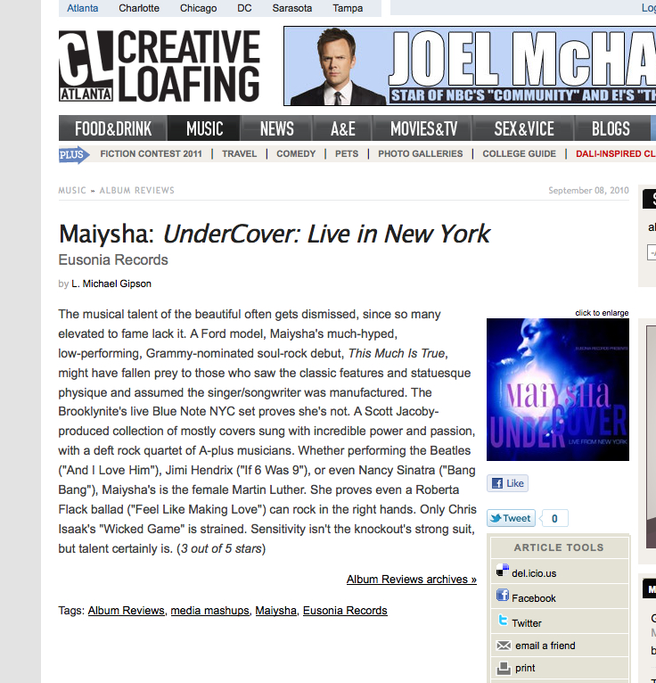 M - Creative Loafing 2010